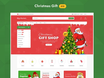 Big Market Christmas Gift - eCommerce Multi-purpose Website Desi
