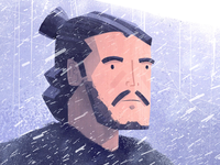 Winter is coming john snow 2d animation illustration after effect got game of thrones isobar animation