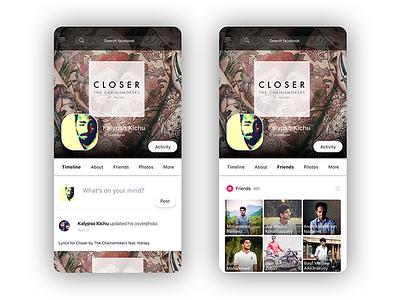 Facebook Mobile Ui Redesign kalypsodesigns concepts minimal sketchapp appdesign redesign ux ui facebook