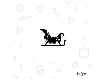 Xmas Typography word designs illustration designer concept typography logo