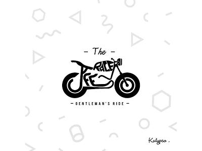 The Cafe Racer Typography word designs illustration designer concept typography logo