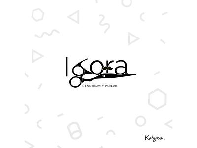 Igora Mens Saloon Logo identity designs branding logo