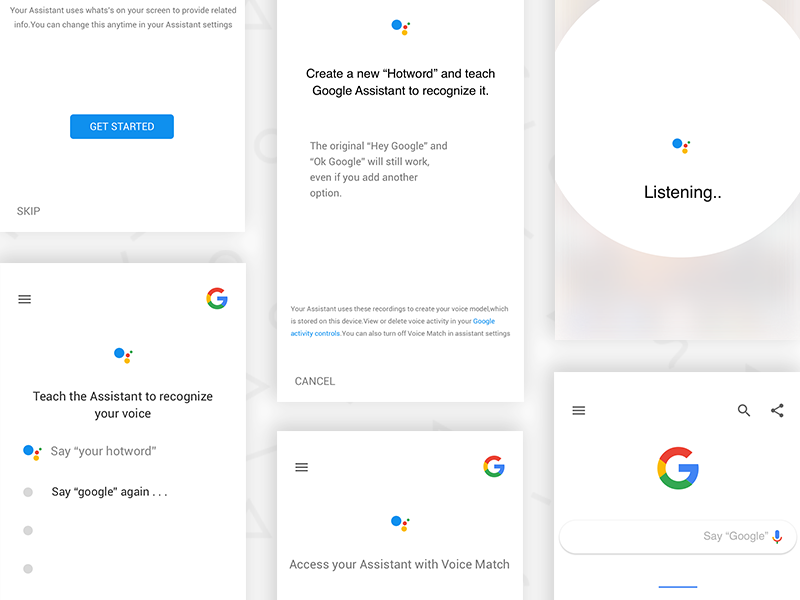 Google Assistant Custom Hotword Ui by Kalypso Kichu on Dribbble