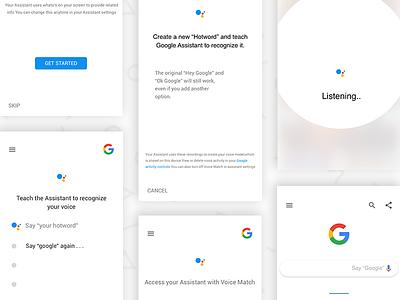 Google Assistant Custom Hotword Ui assistant hotword custom minimal redesign google