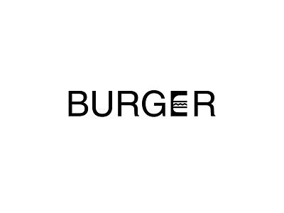 Burger - Minimal typography designs design concept kalypsodesigns minimal