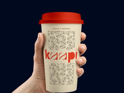 Cup Design - Kaapi Coffee branding concept brand and identity coffee beans coffee design coffee kalypsodesigns designs minimal