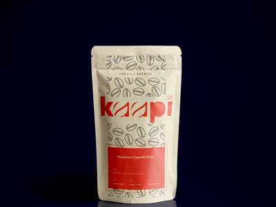 Pouch Package Design - Kaapi minimal designs brand and identity coffee kalypsodesigns