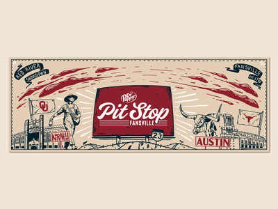 Red River Showdown Label Design