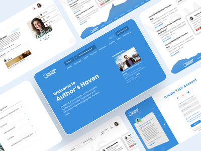 Author's Haven - Web ux design ui design blog product design branding web design design ux ui minimal figma