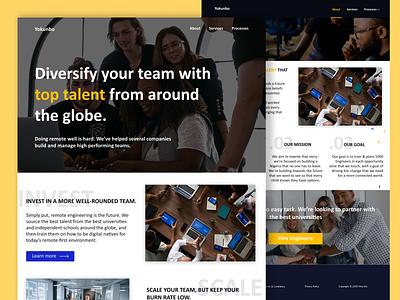Yokunbo Website(Redesign) redesign website web yokunbo ui design product design web design minimal figma design ux ui