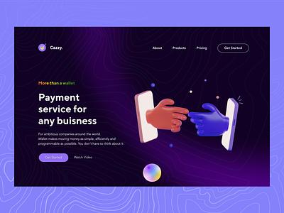 Cazzy - A Payment Service App(Fintech) ux design ui design financial fintech mobile app design design ux ui figma