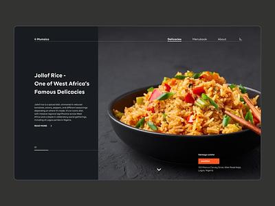Mumsico - Food Web App webdesign exploration food web minimal design figma ux ui