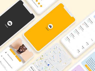 Captain - A Ride Sharing App ride-sharing app ride branding figma mobile app design mobile app design ui ux