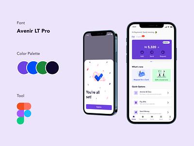 Fintech App - A Financial Service Application productdesign fintech mobile app design mobile app figma ux ui