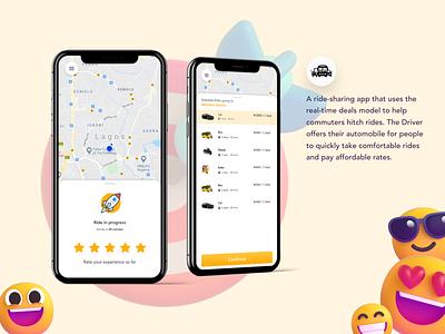 Captain - A ride hailing app(a fresher look) product design ux design ui design minimal illustration 3d icons ride mobile app design mobile app design figma ui ux