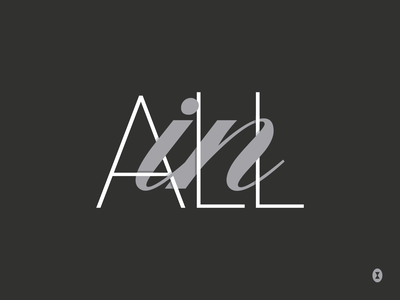 ALL IN lettering vector type typography