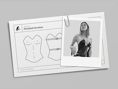 Detached Devotion: Corset illustration vector technical fashion