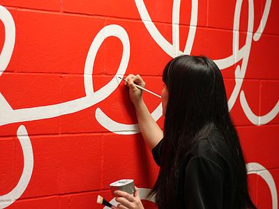 'Never Settle' Mural hustle lettering mural design vector typography