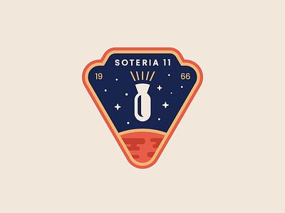 QUADRANT 75 - Soteria 11 Patch mars apollo11 space mission vector patch moon landing nasa