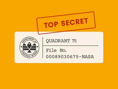 QUADRANT 75 Book Cover kickstarter typewriter book cover type typography vector space nasa classified mission mars