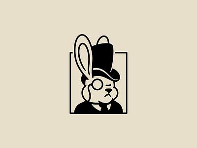 Debonair Rabbit illustration vector debonair tophat monocle rabbit