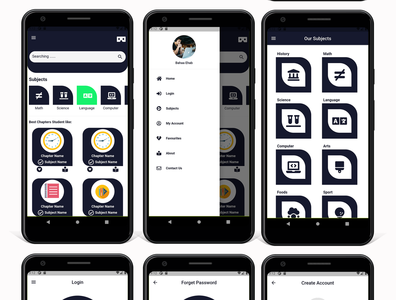 LMSKit - Flutter Course Academy Kit - Ios and Android  Home page dart careem app design android app android adobe xd ui ios flutter