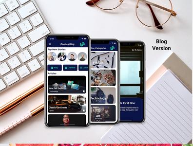 Flutter Modern Blog and Recipes dart careem app design ui android app android adobe xd ios flutter