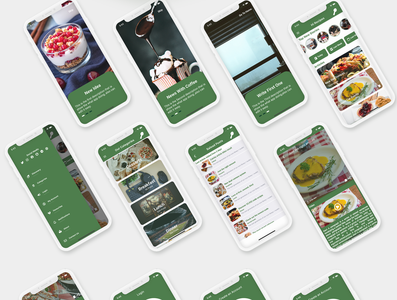 Flutter Modern Blog and Recipes - Ios and Android Theme logo career app android app flutter dart illustration ios ui adobe xd