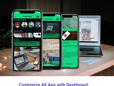 Flutter Blog App With Dashboard ios and android dart careem app design android app android adobe xd ui ios flutter