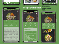 Recipe Flutter Application - ios and android  Download dart careem app design android app android adobe xd ui ios flutter