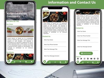 Recipe Flutter Application career dart careem app design android app android adobe xd ui ios flutter