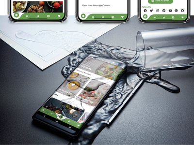 Recipe Flutter Application - ios and android dart careem app design android app android adobe xd ui ios flutter