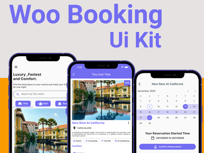 Flutter Booking Application - Ios and android design app android app branding ui ios flutter