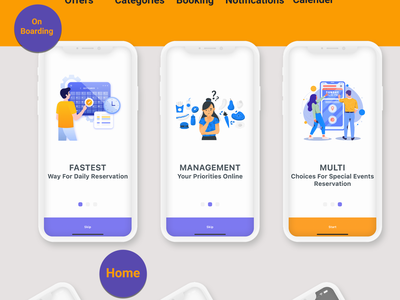 Flutter Booking Application - Ios and android animation 2d vector careem app design android app adobe xd ui ios flutter