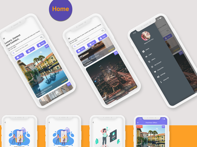 Flutter Booking Application - Ios and Android illustration logo app design android android app ui adobe xd ios flutter