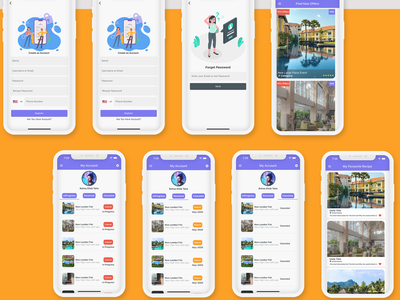 Flutter Booking Application - Ios and Android ux careem app design android android app adobe xd ui ios flutter