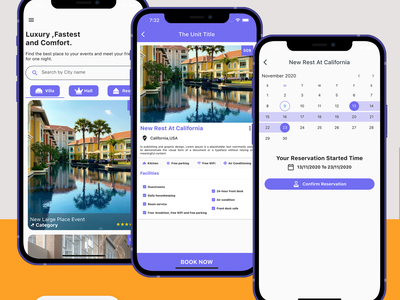 Flutter Booking Application - Ios and Android dart careem app design android android app adobe xd ui ios flutter