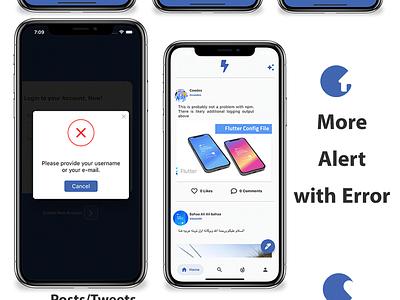 Flutter Social Media App with Dashboard -Ios, and Android careem design android android app ios branding illustration adobe xd flutter