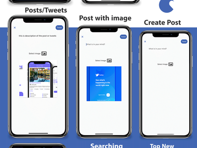 Flutter Social Media App with Dashboard animation 2d career typography illustration app design android flutter android app ios adobe xd