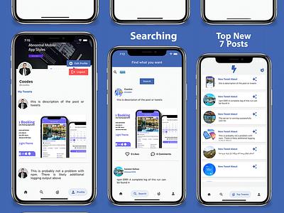 Flutter Social Media App with Dashboard dart careem app design android android app adobe xd ui ios flutter