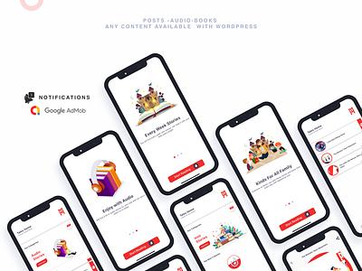 Flutter WordPress Clone App wordpress theme wordpress adobe xd ui android app ios flutter