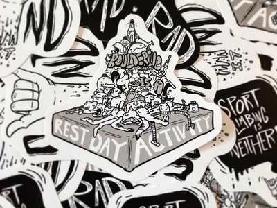 Bouldering is a rest day activity! Climbing Sticker