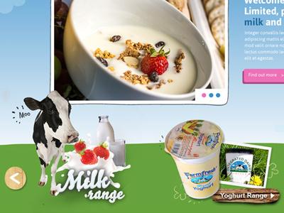 Dairy Web Concept webdesign design web site