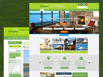Irish Holiday Cottage Website ux ui holidays travel website website web page web design