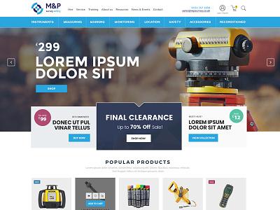 Web concept for M&P te white clean web design ux ui ecommerce website