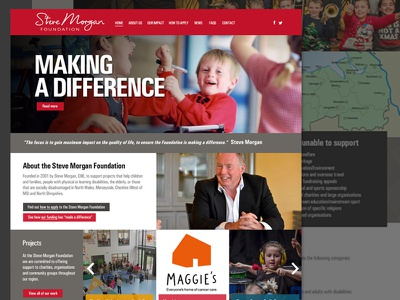 Charity website red donation website charity ui web design