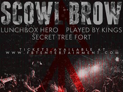 Scowl Brow Flyer design concert poster concert flyer band flyer artwork flyer flyer designs flyer design