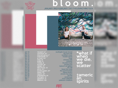 bloom. January Tour Flyer