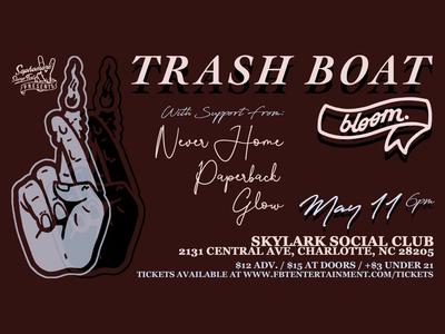 Trash Boat - Event Page Flyer