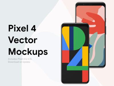 Googel Pixel 4 Vector Mockups
